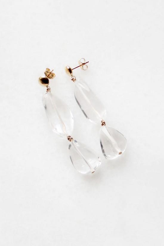 Tiered Quartz Drop Earrings