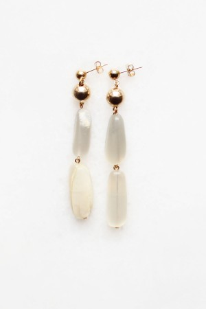 Tiered Moonstone Drop Earrings