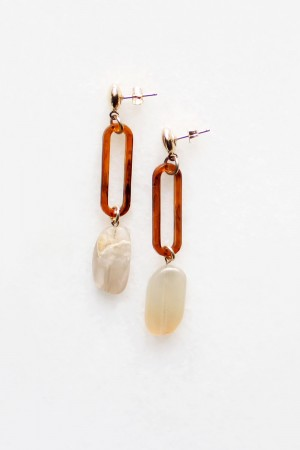 Mia Earrings in Moonstone