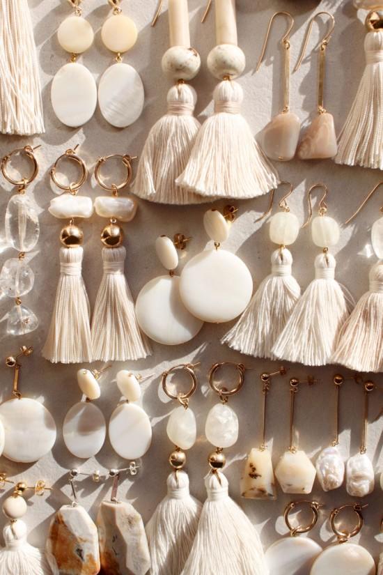Pearl and Silk Tassel Earrings