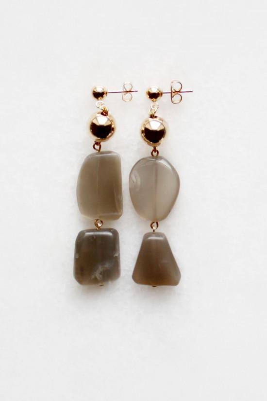 Tiered Moonstone Drop Earrings