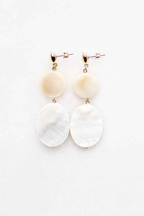 Tiered Mother of Pearl Earrings