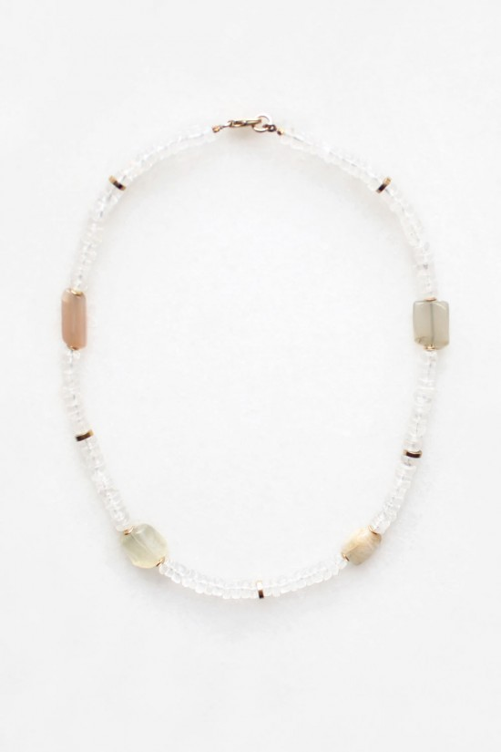 Moonstone and Quartz Necklace