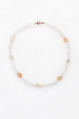 Moonstone and Quartz Necklace