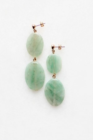 Tiered Green Aventurine Earrings
