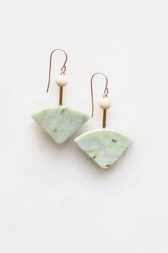 Marble and Riverstone Earrings