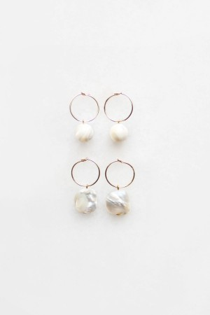 Mother of Pearl Hoop Earrings