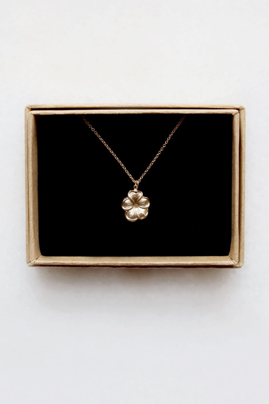 Flower Charm Necklace - 14kt gold fill
