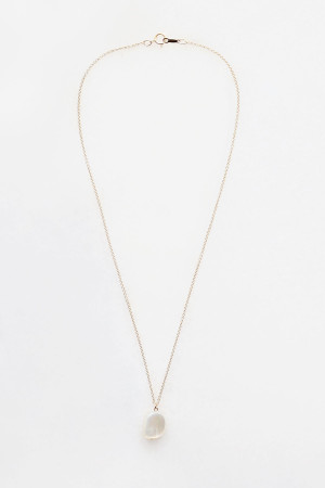 Mother of Pearl Charm Necklace - 14kt gold fill
