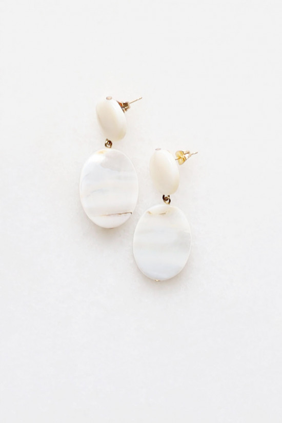 Mother of Pearl Tiered Earrings