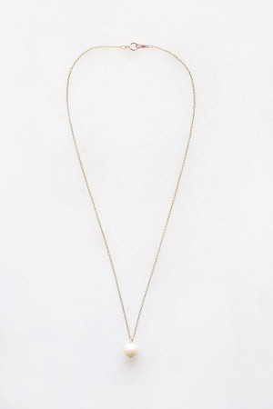 Pearl Drop Necklace - 14kt gold fill