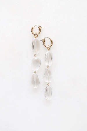 Tiered Quartz Drop Earrings