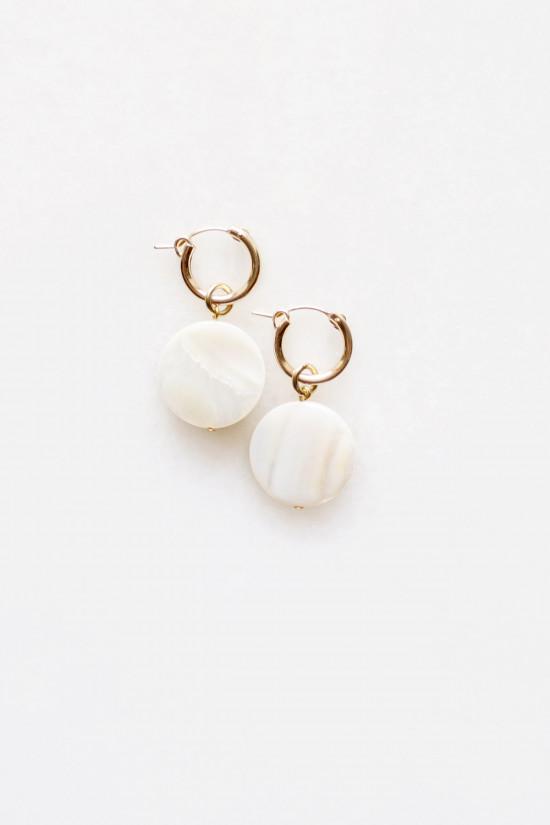Mother of Pearl Hoop Earrings