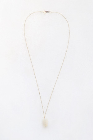 Moonstone Drop Necklace - 14kt gold fill