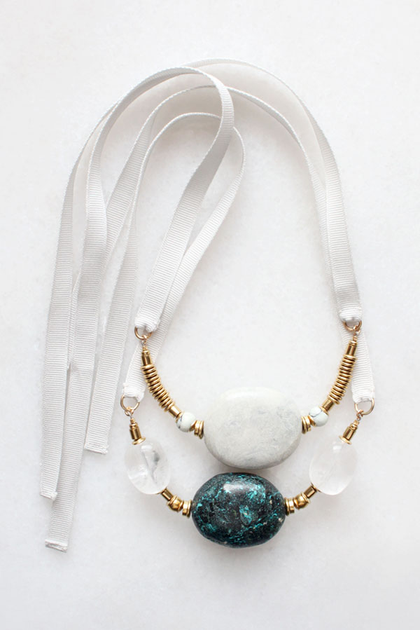 Turquoise and marble necklaces
