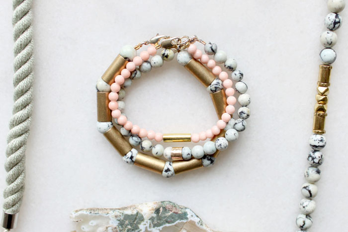 Gemstone bracelets by The Vamoose