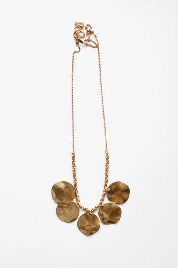 Hammered Brass Necklace by The Vamoose