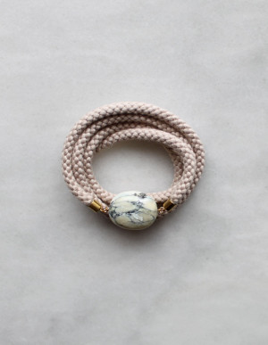 Braided Rope and Marble Necklace by The Vamoose