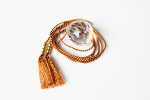 Crystal and Silk Necklace by The Vamoose