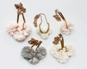 Fabric and Metal Necklaces by The Vamoose