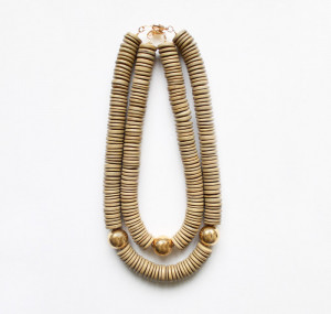 Layered Wood and Metal Necklaces by The Vamoose