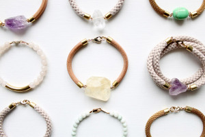 Leather and gemstone bracelets by The Vamoose