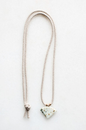 Marble and Braided Cord Necklace by The Vamoose