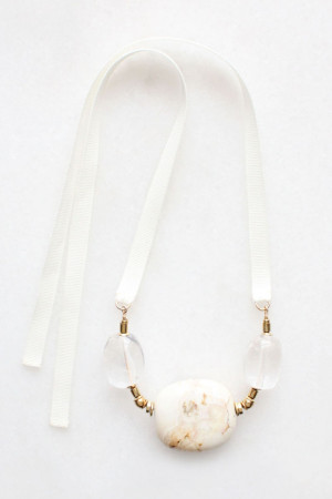Marble and Quartz Necklace by The Vamoose