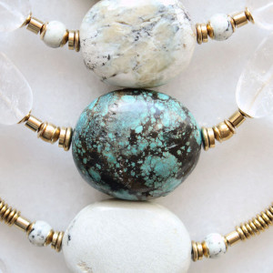 Marble and Quartz Necklaces by The Vamoose