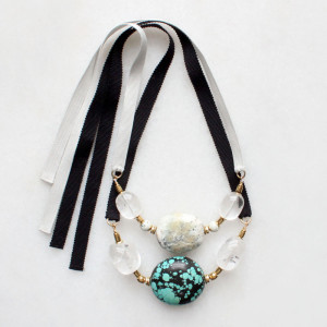 Marble and Turquoise Necklaces by The Vamoose