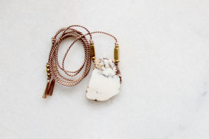 Natural Magnesite and Silk Necklace by The Vamoose