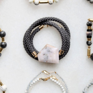 Opal and Rope Bracelet by The Vamoose