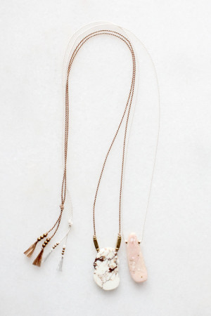 Pink Opal and Magnesite Necklaces by The Vamoose