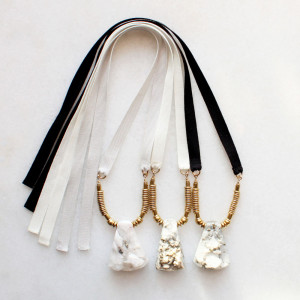 Pyrite and Quartz Necklaces by The Vamoose