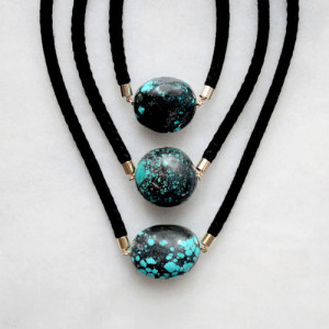 Rope and Turquoise Necklaces by The Vamoose