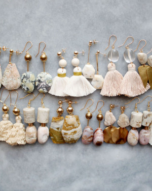 Semi precious earrings by The Vamoose