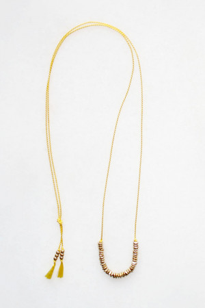 Silk and Brass Necklace by The Vamoose