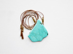 Silk and magnesite necklace by The Vamoose