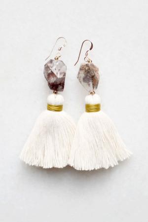 Smoky Quartz Tassel Earrings by The Vamoose