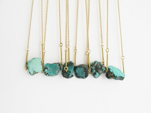 Turquoise Nugget Necklaces by The Vamoose