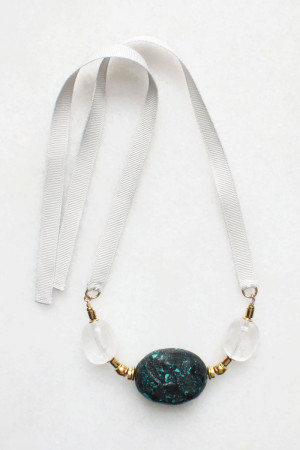 Turquoise and Quartz Necklace by The Vamoose