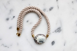 Twisted Rope and Marble Necklace by The Vamoose