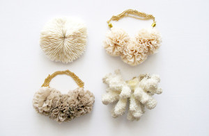Vintage Coral Specimens and Pompom Necklaces by The Vamoose