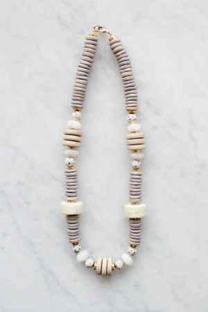 Wood and Jasper Necklace by The Vamoose