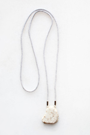 Braided Cord Magnesite Necklace by The Vamoose