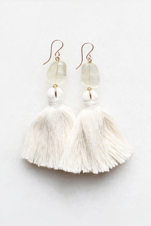 Moonstone Tassel Earrings by The Vamoose