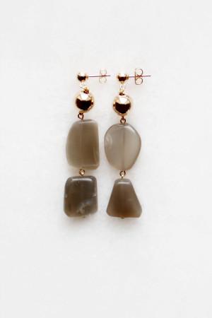 Moonstone Tiered Earrings by The Vamoose