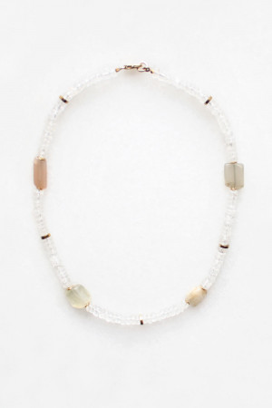 Moonstone and Quartz Necklace by The Vamoose