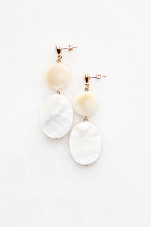 Mother of Pearl Earrings by The Vamoose