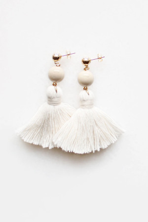 Riverstone Tassel Earrings by The Vamoose